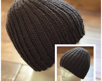"Winter beanie hat...the ""Hunter"" in crochet"