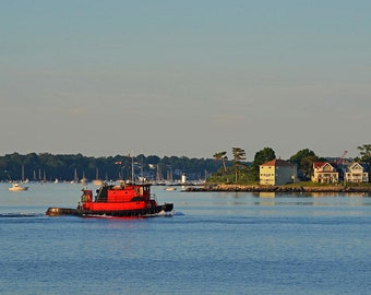 Tugboat by Winter Island Salem MA, tugboat photography, tugboat art, tugboat picture, tugboat print, Winter Island, Fort Pickering Light