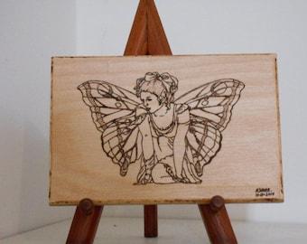 Whimsical Fairy Woodburning Pyrography