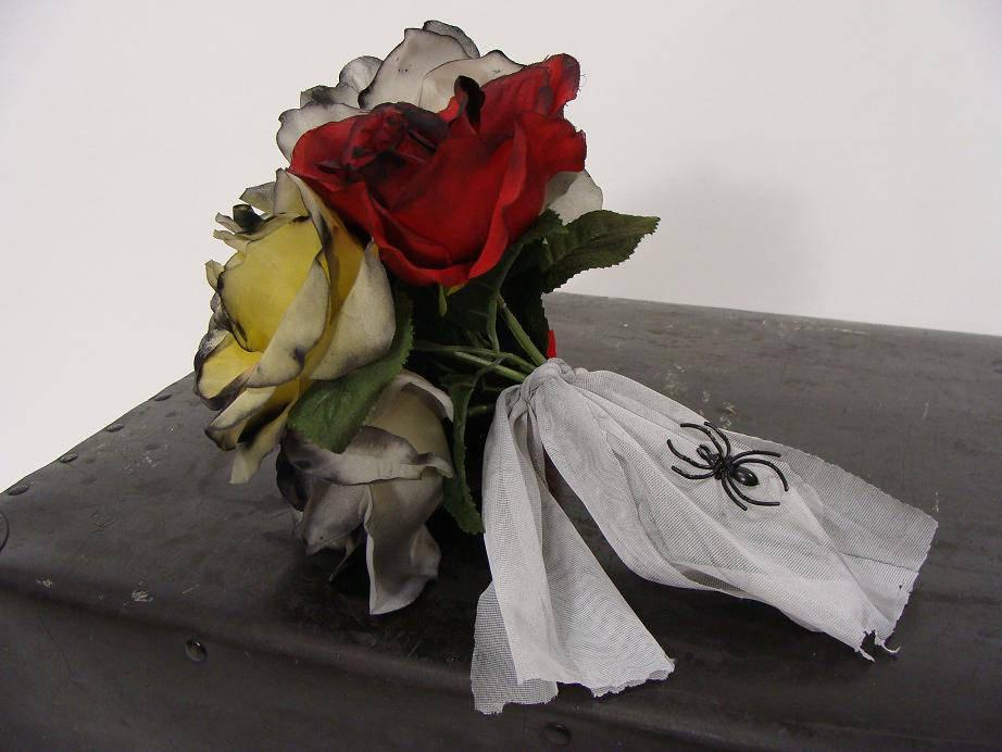 OOAK Zombie Flower Bouquet. Corpse Bride Bouquet. Dead Rose
