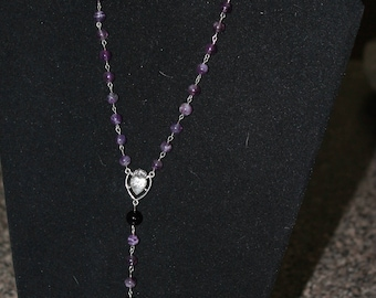 Amethyst and Black Agate Rosary