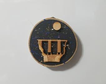 Letchworth Magnets,Letchworth State Park,Letchworth Gifts,Letchworth Souvenirs,Magnets,Wood Disk Magnets,Train Magnets,Train Bridge Magnets