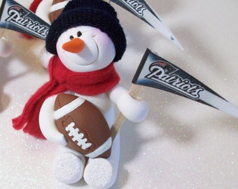 New England Patriots: snowman ornament