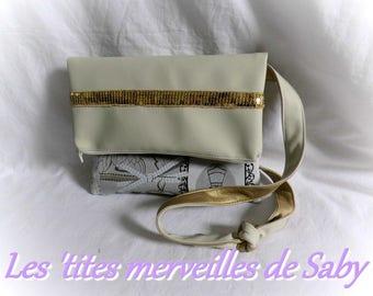 """BI-material reversible """"Paris"""" chic handbag"""