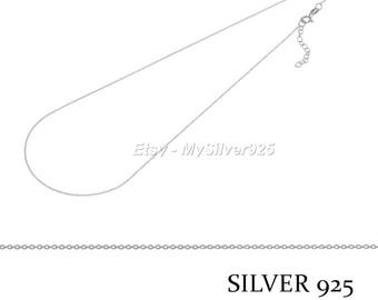 40 + 3cm - 925 sterling silver chain Choker - discount