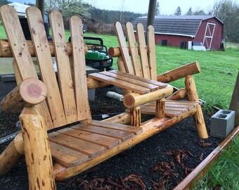 Adirondack Log Bench