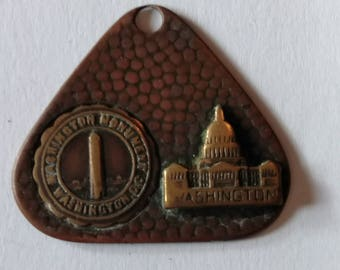 Washington Monument USA fob copper 1950s
