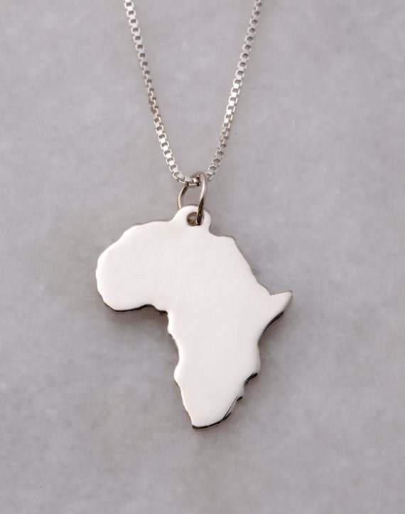 Sterling silver africa frances and co large silver africa chain audiocablefo