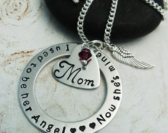 Personalized Memorial Necklace, In Memory of Mom Jewelry, Remembrance Gift, Memorial Gift, Loss Of Necklace, Sympathy Gift, Mom Memorial