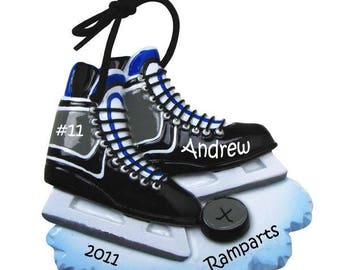 Hockey Skates  Ice Hockey  Ice Hockey Skates   Hockey Ornament  Personalized Christmas Ornament