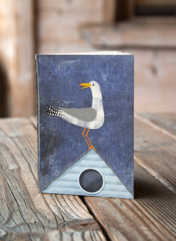A6 Seagull on the House - Notebook / Sketchbook / Journal