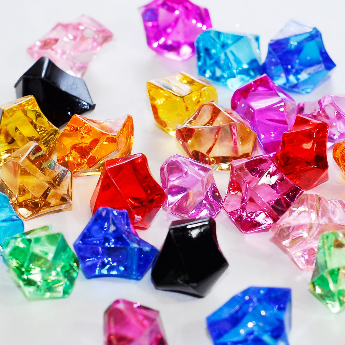 1 multi colored acrylic ice chips rocks faux glass zoom reviewsmspy