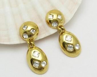 Long Rhinestone Earrings Vintage Napier Jewelry
