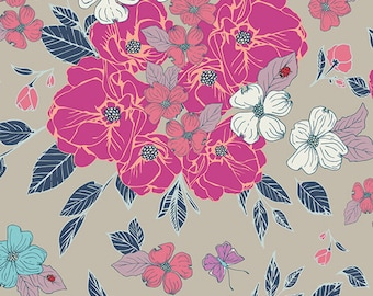 Art Gallery Fabrics, Flowery Chant Wild FCD-67150, FLOWER CHILD, Maureen Cracknell, Quilt Fabric, Cotton, Quilting, Fabric By the Yard