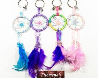 Dream catcher, Keychain, Backpack accessories, Purse accessory, Boho, Small dream catcher, Car decor, Nursery decor, Boho gift, Accessories