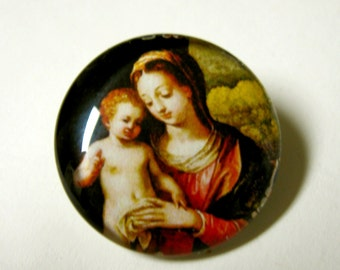 Madonna and child lapel pin/brooch - BR02-011
