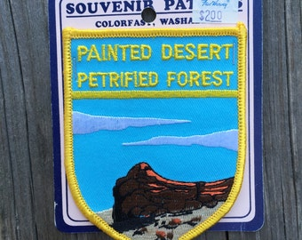 ONLY ONE! Painted Desert, Petrified Forest Vintage Souvenir Travel Patch