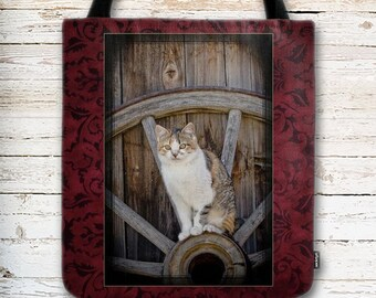 Calico Cat, Kitten Tote Bag, Cute Cat Tote Bag, Gifts for Cat Lover, Carry All Bag, Gift for Her, Gift for Mom, Eco Friendly Tote Bag