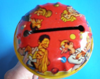 Vintage Mid Century Tin New Year's Party Noise Maker