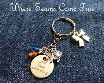 Finding Nemo/Dory Quote Keychain (Just Keep Swimming)