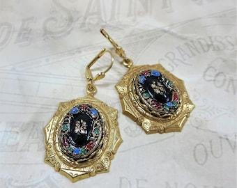 Victorian Earrings Cameo Earrings Vintage German Cameo Jewelry Gift