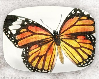 Monarch butterfly platter
