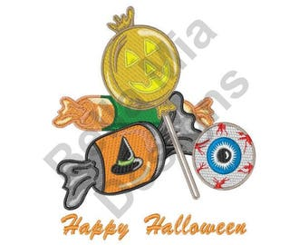 Halloween Candy - Machine Embroidery Design, Happy Halloween, Halloween, Candy