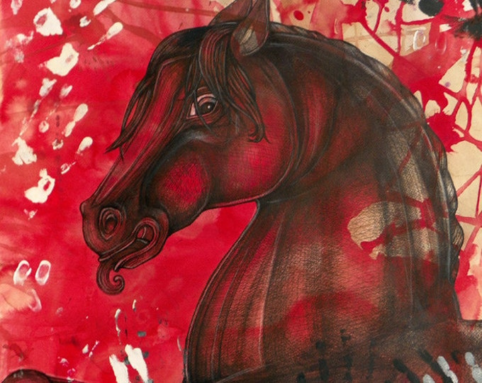 War Horse Archival Art Print by Lynnette Shelley