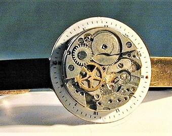 Steampunk Art Deco 1920's Watch Dial & Movement Bracelet OOAK