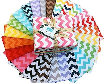 Small Chevron FQ Bundle from RIley Blake- 24 FQs