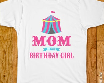 Pink Carnival Birthday Iron-On / Pink Circus Birthday Iron-On - Mom/Dad/Family of the Birthday Girl - Customize for any wearer!