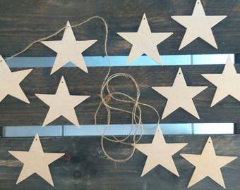 Garland Kit stars wood medium scalloped painting