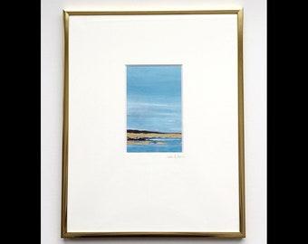 """framed 11x14 """"gold ocean 1"""""""