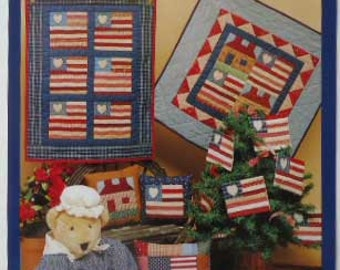 Little Quilt Collection Flag Patriotic Sewing Pattern Pillow Wall Hanging