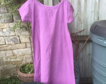 Antique artisan dyed French linen chemise