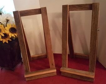 Giant wood easel wooden wedding easel rustic wedding sign /