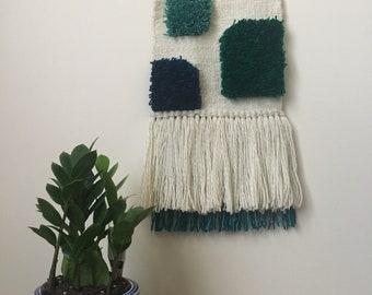 Textured woven wall art