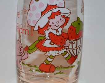 Vintage 1980 Strawberry Shortcake Glass