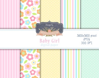 SALE Baby girl, its a girl digital paper pack