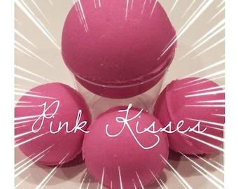 Pink Kisses Bath Bomb, Pink Bath Bomb,  Vegan Bath Bomb, Cruelty Free Bath Bomb, Spa Bath Bomb