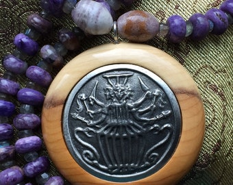Hail, Hekate: Devotional Jewelry Gemstone Beaded Necklace