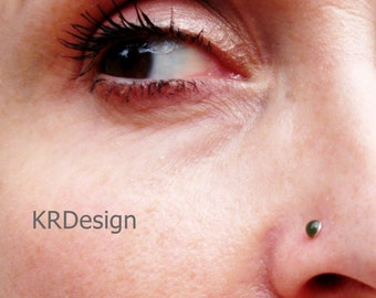 Sterling Silver-14K Gold-Jade-Nose Rings-Earrings-Tragus-Customized / Free US Shipping