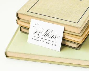 Elegant Personalized Bookplates, Ex Libris Labels for Your Library // CLASSIC FLAIR