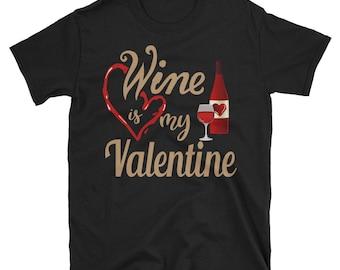 valentine wine glass - valentine gift - wine glass - wine shirt - wine is my valentine - valentine wine - wine lover gift - wine glass