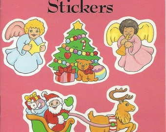 Vintage Anna Pomaska Little Christmas Stickers Dover Publications Book, 1989