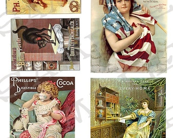 Victorian ads Collage Sheet 2