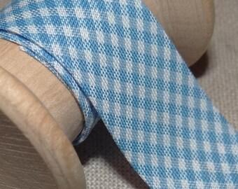 Through blue gingham baby, width 20 mm