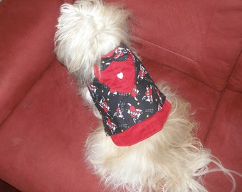 TATTOO MY HEART - Dog Harness Vest - Made to order - choose shirt color