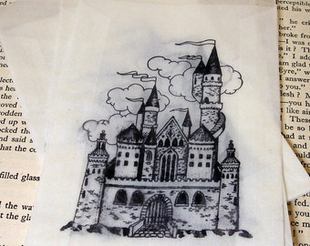 Custom Fairytale Castle Glassine bags with Customization-SET of 200