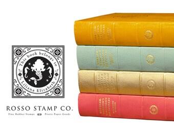Mermaid Bookplate - This Book Belongs to Stamp with Mermaid - Vintage Inspired Bookplate